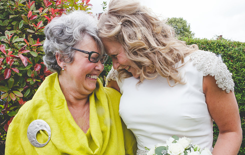 Bride with her Mum in Staffordshire
